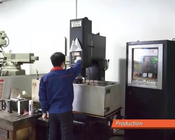 connector CNC machine process and test